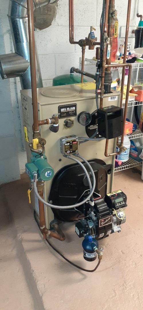 Croydon, PA - Perform Precision oil tune up on whale McQueen oil boiler in Croydon PA