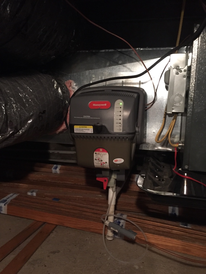 Newtown, PA - Repair made on Honeywell Tristram humidifier