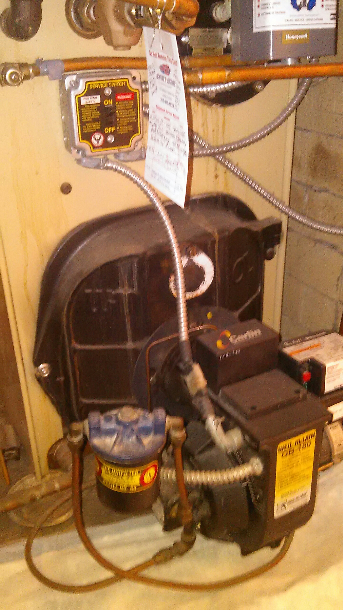 Fairless Hills, PA - Performed a oil burner maintenance on a Weil McLain boiler.