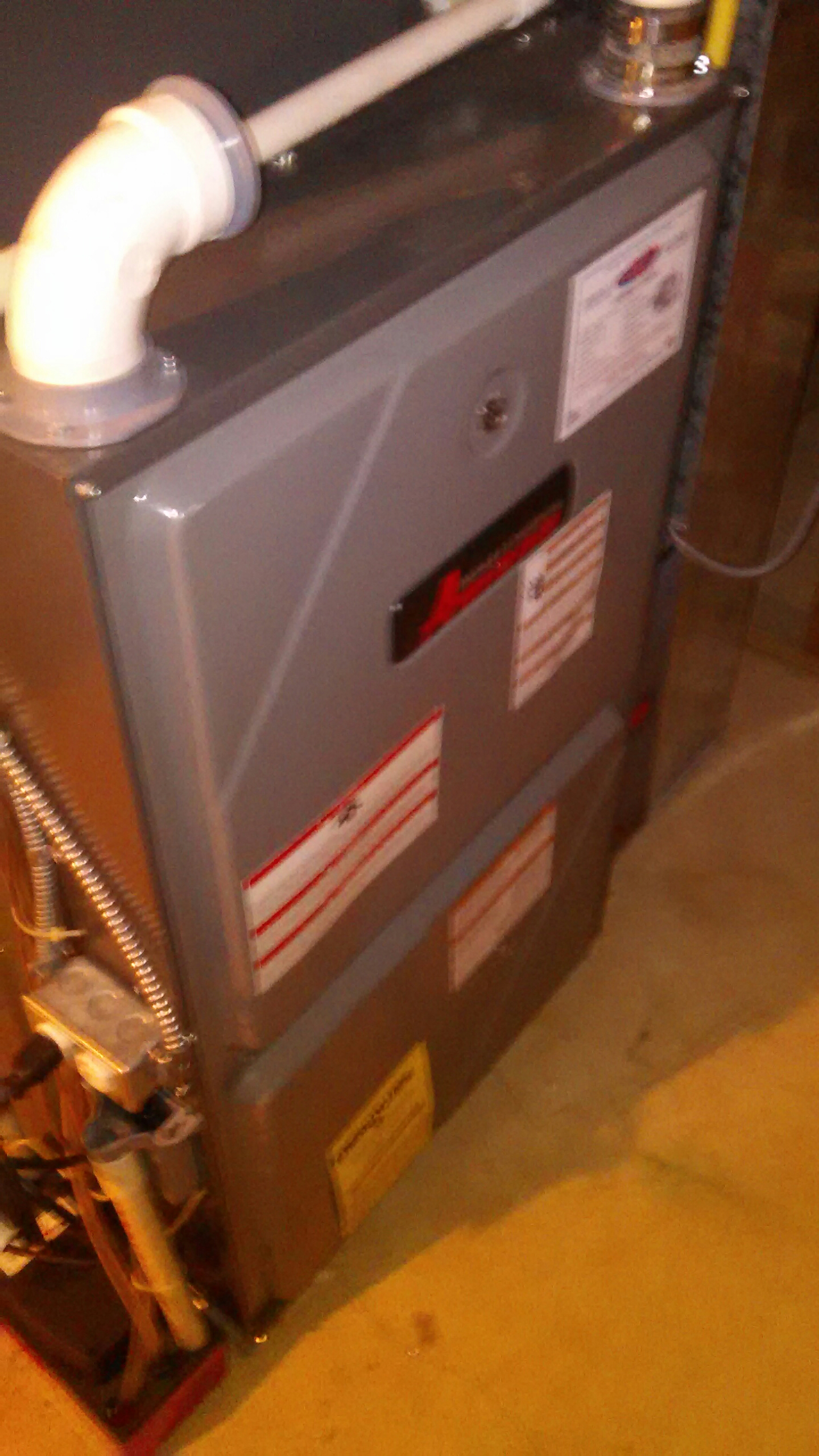 Fairless Hills, PA - Performed a preseason fall maintenance on an Amana 96% gas fired furnace.