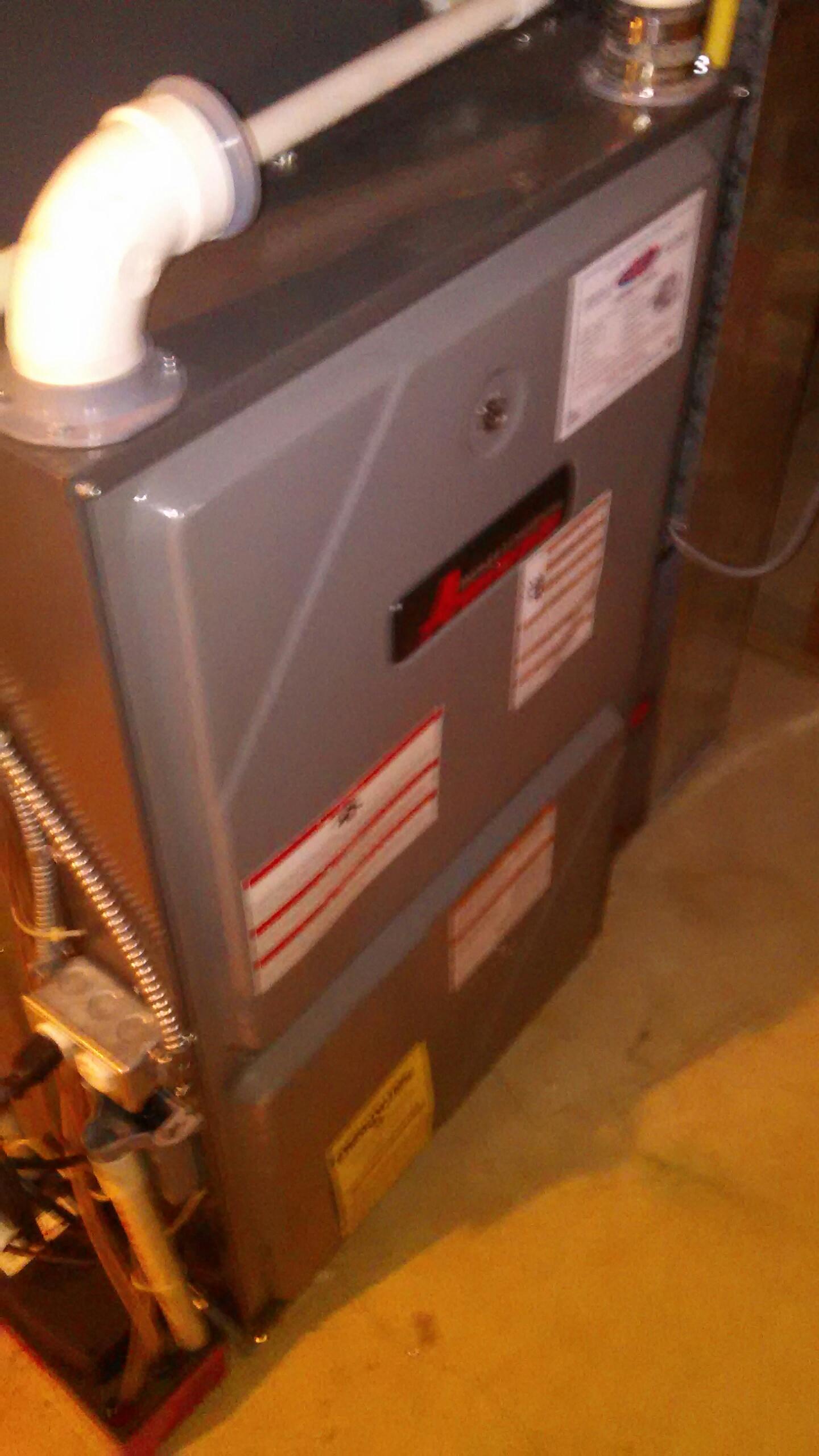 Fairless Hills, PA - Performed a preseason fall maintenance on an Amana 96% gas fired furnace.