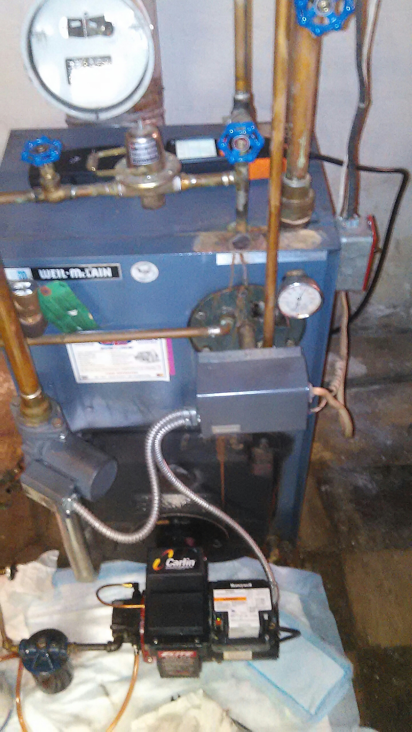 Southampton, PA - Performed a preseason maintenance on a Weil McLain oil fired boiler.