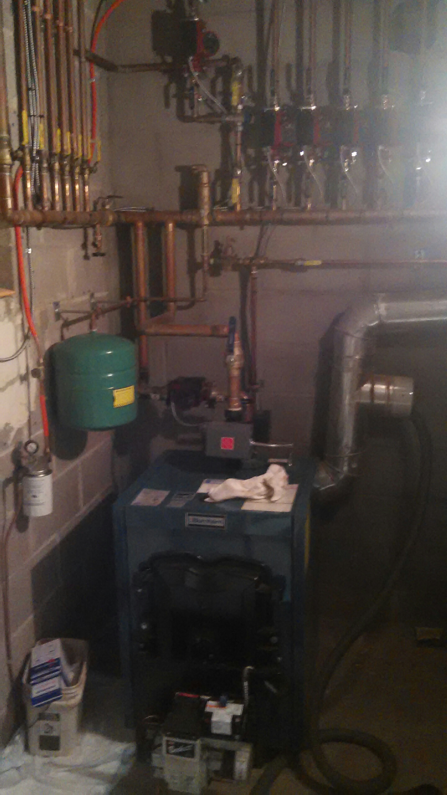Washington Crossing, PA - Performed a oil burner clean out on a Burnham MP0147-TB boiler.