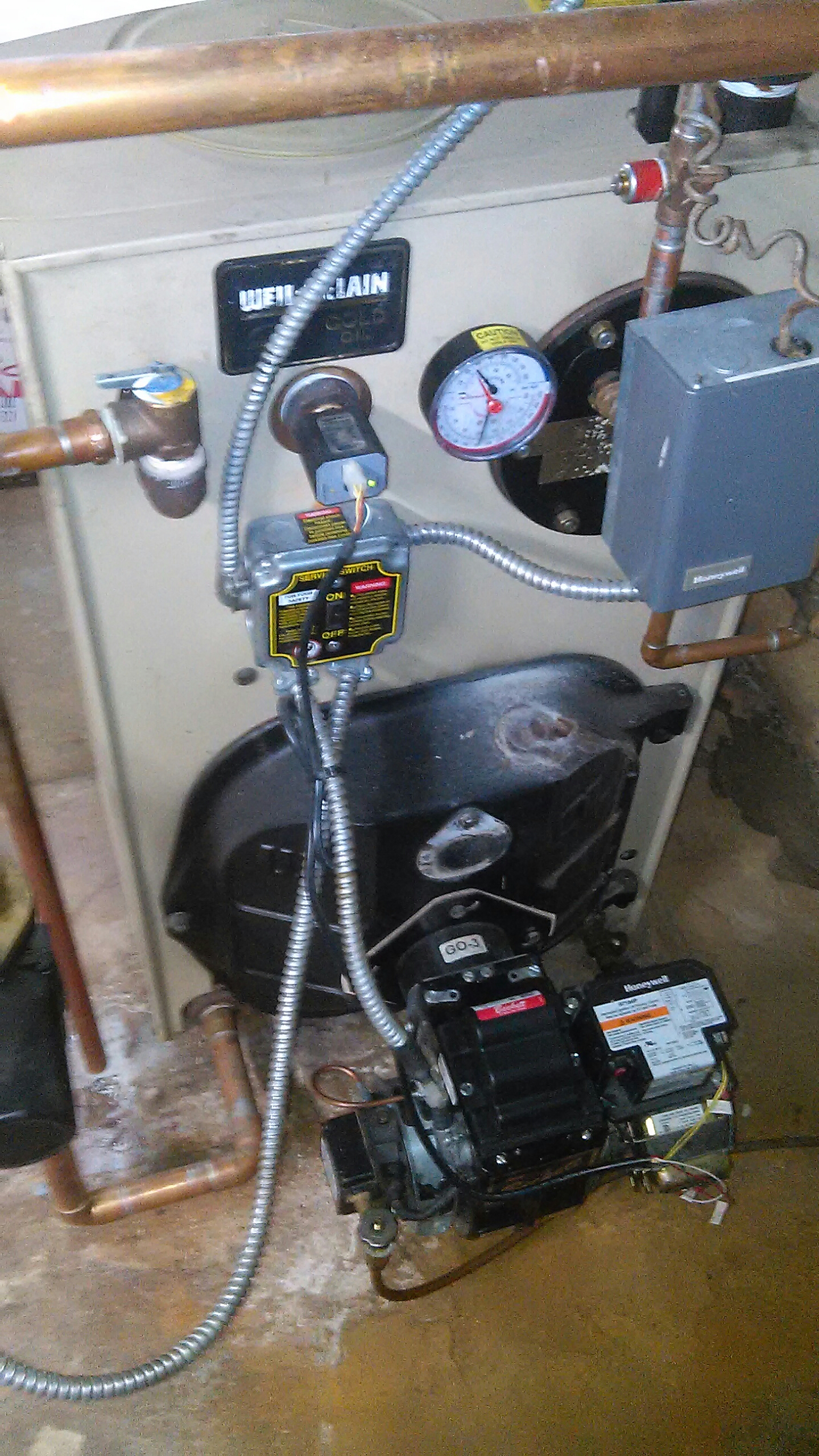Langhorne, PA - Performed an oil burner clean out on a Weil McLain WTG boiler.