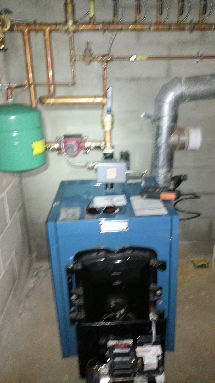 Yardley, PA - Service burner motor on Burnham MPO oil boiler
