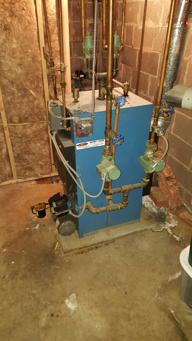 Langhorne, PA - Heaer repair, replaced bad ignition transformer on an efm oil fired boiler in Penncrest section Langorne Pa