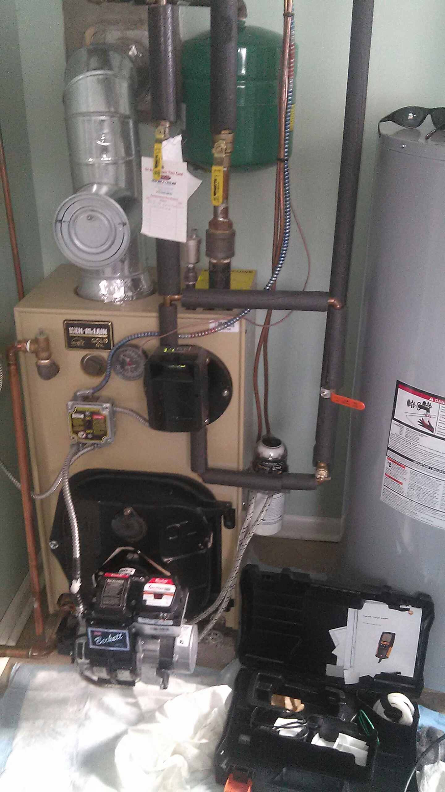 Newtown, PA - Performed a contract annual precision clean out on a Weil McLain WTG boiler.