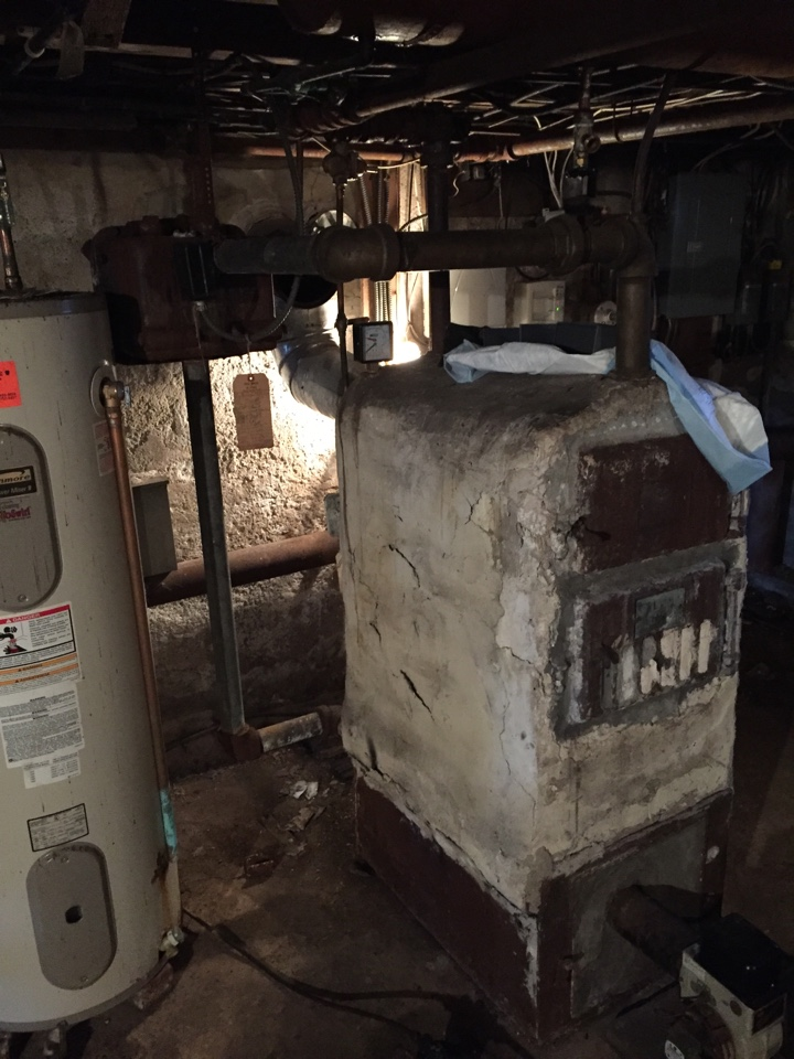 Newtown, PA - Repairs made on oil fired boiler which was converted from coal