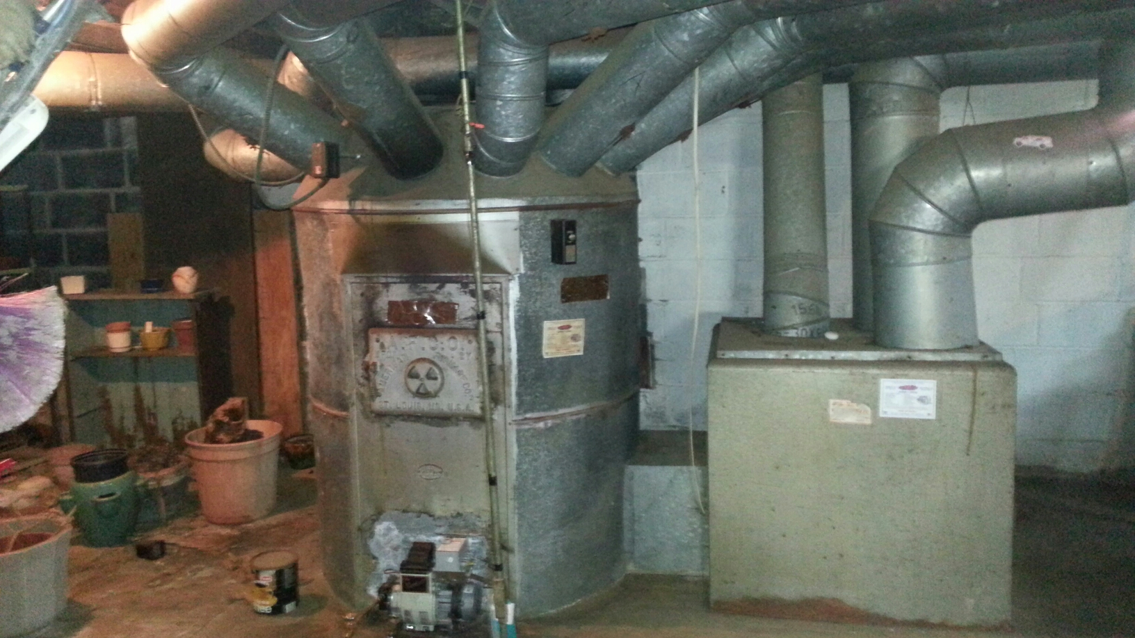 Langhorne, PA - Performed Annual maintenance on coal converted oil furnace