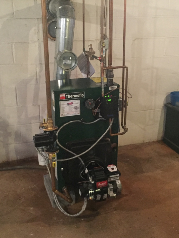 Southampton, PA - Repair made on themoflo oil fired boiler in Holland Pennsylvania