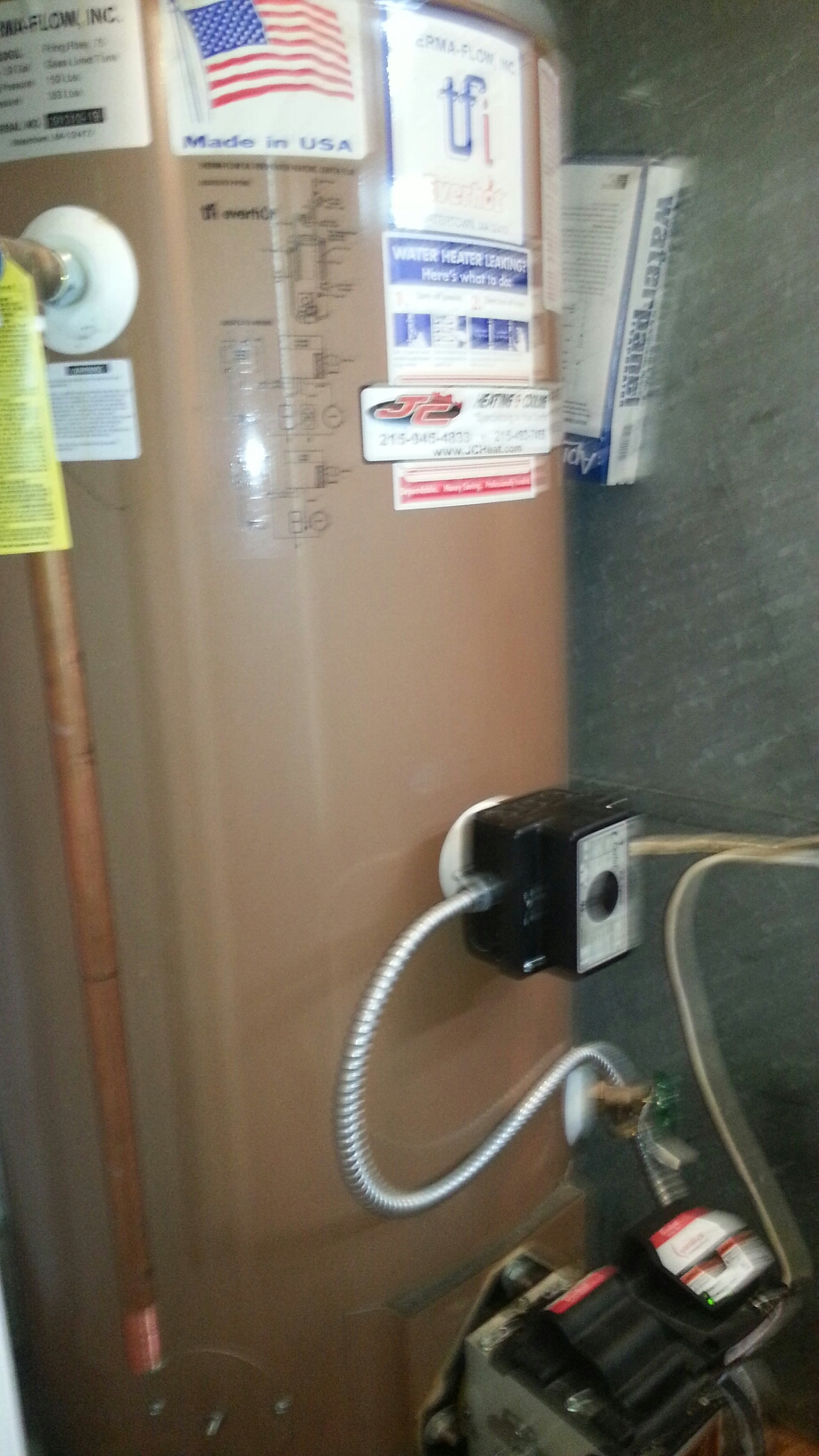 Bensalem, PA - Performed service call on Thermoflo oil fired water heater