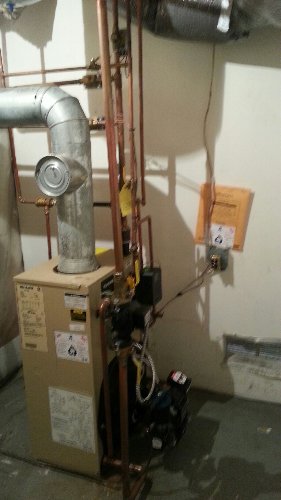 Bensalem, PA - Performed Annual maintenance on weil McClain wtgo-3l oil boiler, chimney sweep and inspection.