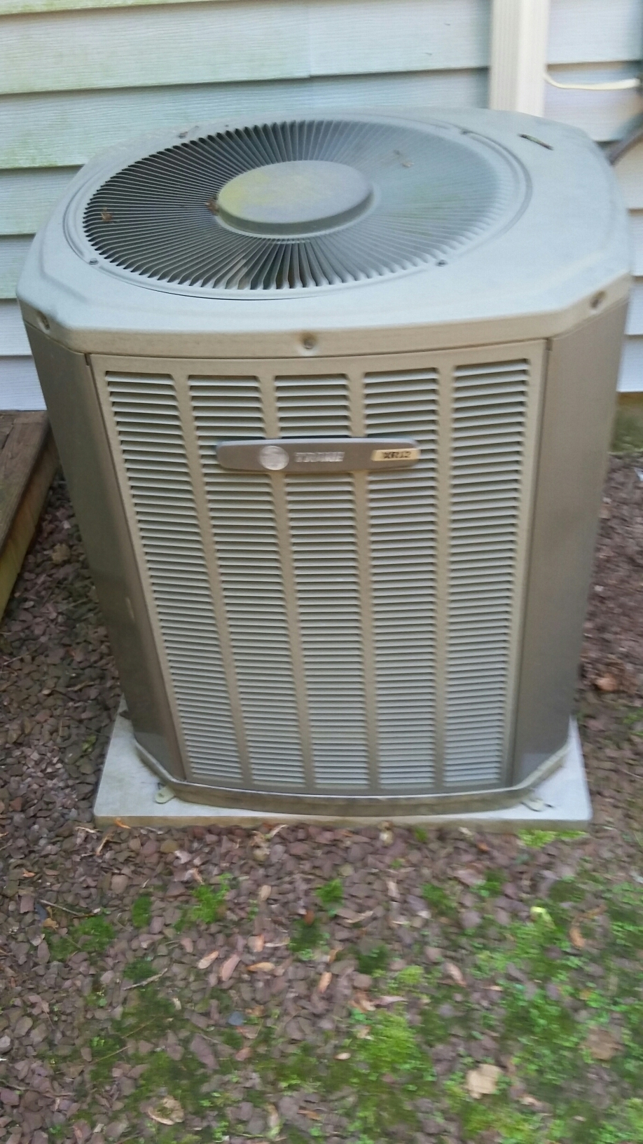 Newtown, PA - Performed an a/c maintenance on a Trade split system.