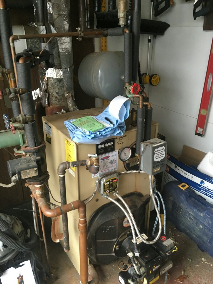 Bensalem, PA - Performed annual maintenance on Weil Mclain wtgo - 4 oil boiler in Bensalem