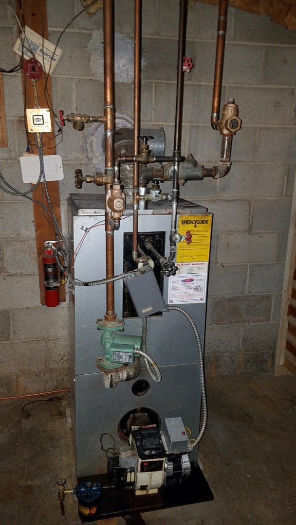 Southampton, PA - Perform service call on Columbia oil boiler in Churchville