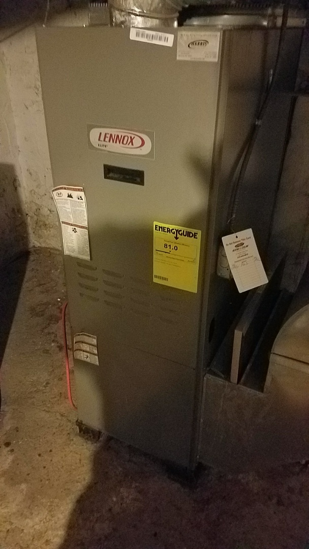 Bristol, PA - Emergency no heat oil furnace repair service call. Primed and started oil burner due to out of oil