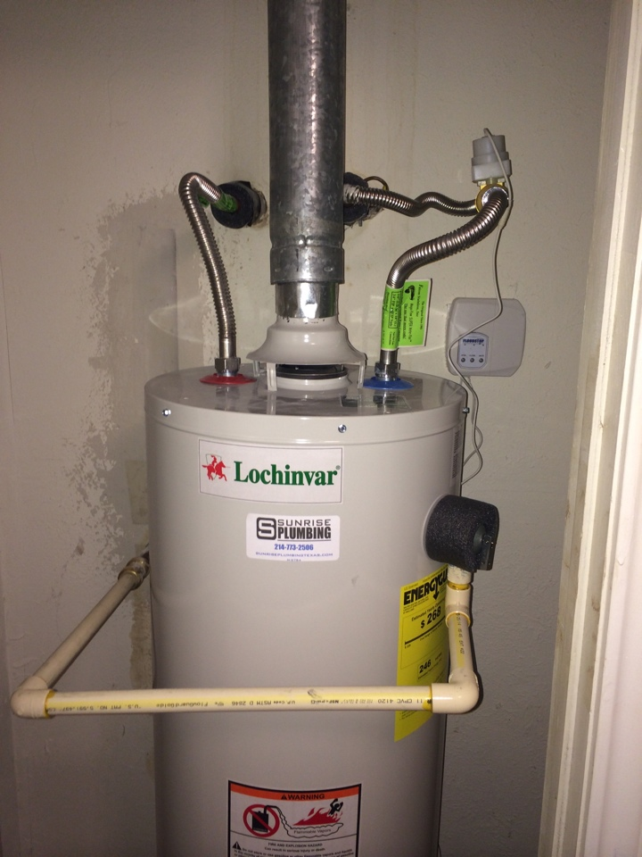 install 30 gallon natural gas locjinvar water heater in hallway closet with floodstop valve and carbon - Lochinvar Water Heater