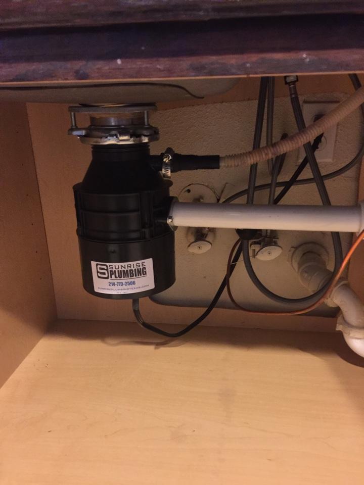 dallas tx leak under kitchen sink on drain pipe