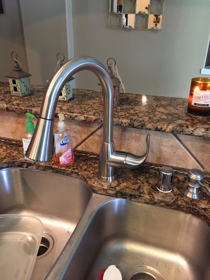 Just installed this nice kitchen faucet!#sachse plumbers