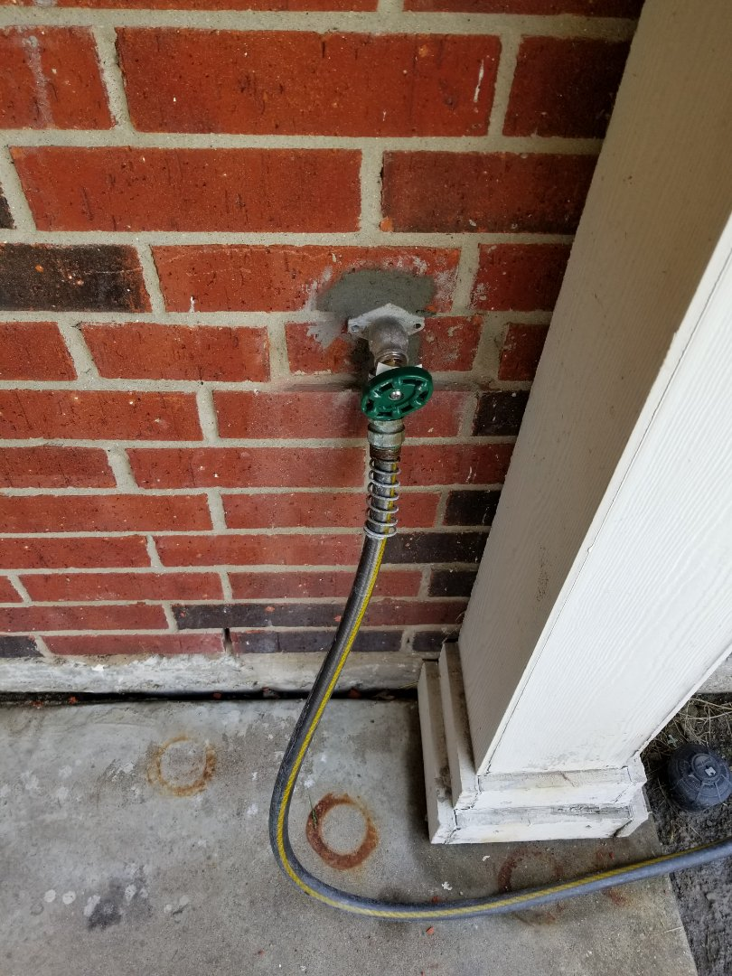 "Outside faucet is  Leaking need repair. Install new 4"" frost proof faucet on outside wall. Rowlett plumbers"