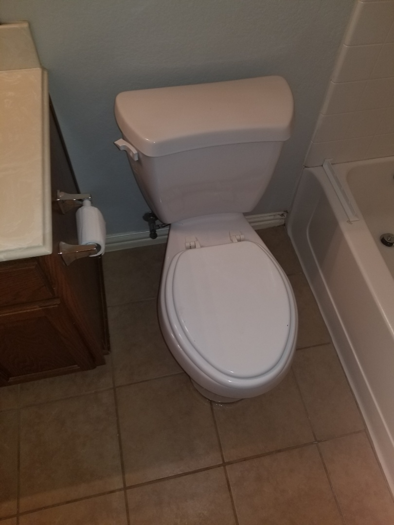 Toilet and up stairs hallway bathroom is  Moving when you sit on it. Need repair.  Reset toilet . McKinney plumbers