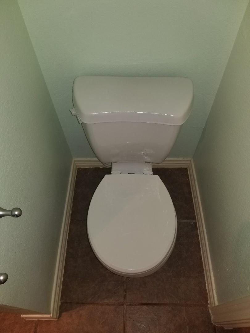Water leak and hallway ceiling need repair. Reset toilet to stop leak. Wylie plumbers
