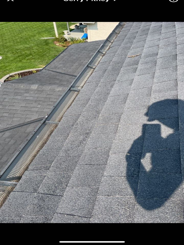 Centennial, CO - Today team Reliable Roofing and Restoration was called out to Centennial Colorado because of a major hail storm last Friday. This old GAF Timberline HD in Charcoal color was severely damaged by a lot of hail. The hail wasn't very big but took the granules off this roof. Call us today for a free inspection.