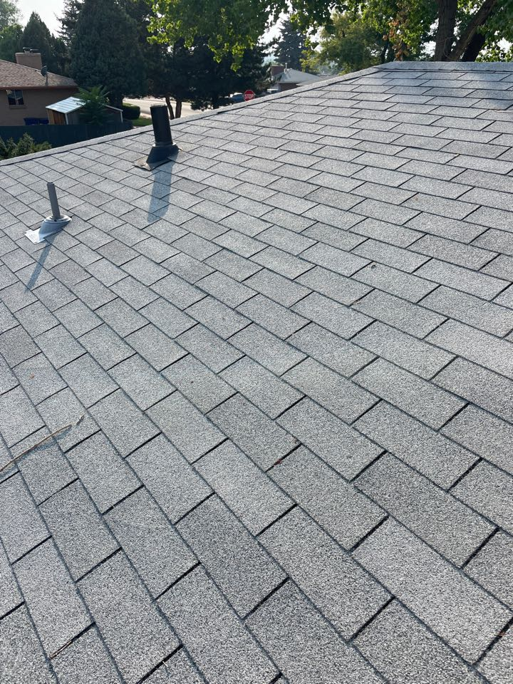 Westminster, CO - Reliable Roofing and Restoration. Scoping out a roof with some older three tab shingles that a customer needed an evaluation on for insurance purposes. Whatever your roofing needs are please give us a call today.