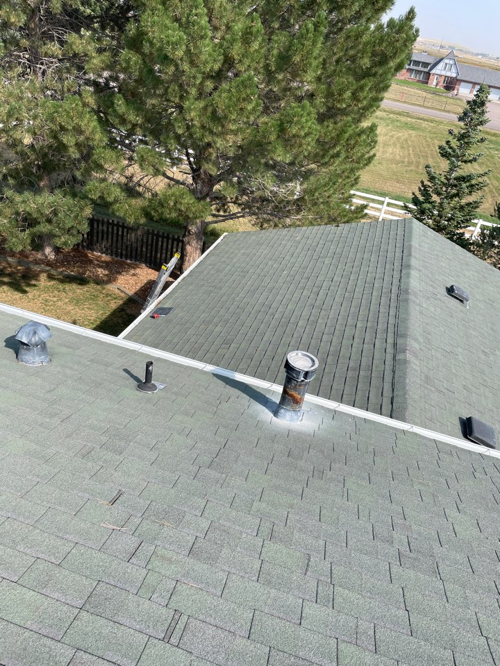 Broomfield, CO - We are in Broomfield today inspecting a roof for hail damage. This roof has been severely damaged and we are going to instruct the homeowner to file a claim with her insurance and we will help her through the process.