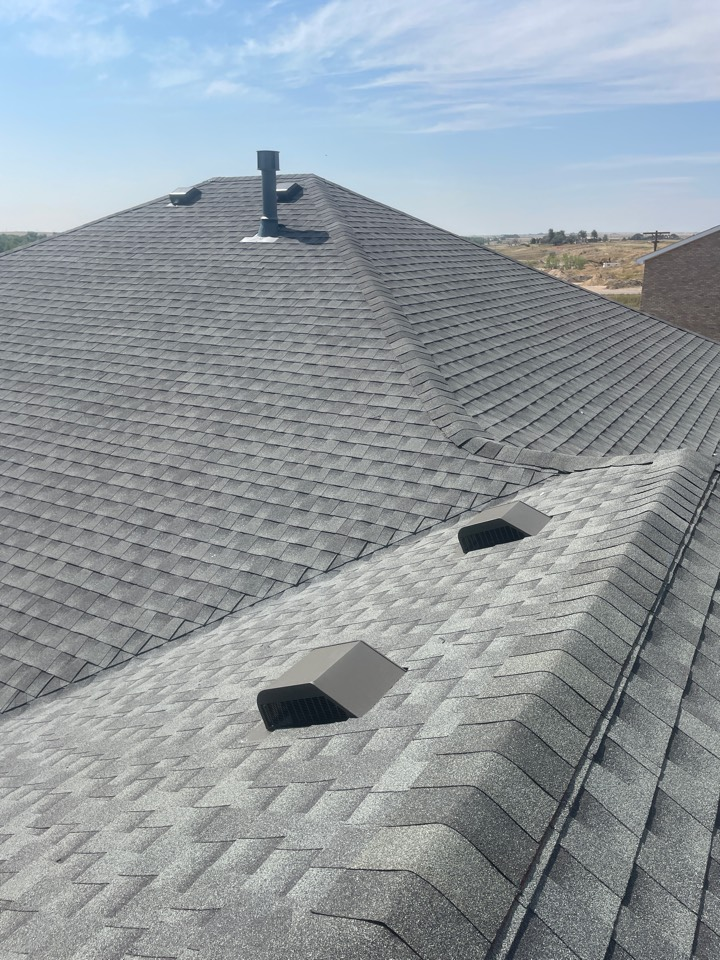 Bennett, CO - Team Reliable Roofing and Restoration just installed 4900 ft.² of GAF Armorshield 2 in the color slate. The roof was damaged with hail. We have installed an impact resistant or hail resistant shingle on this roof here and beautiful Bennett Colorado. Give us a call today for your free estimate on your roof.
