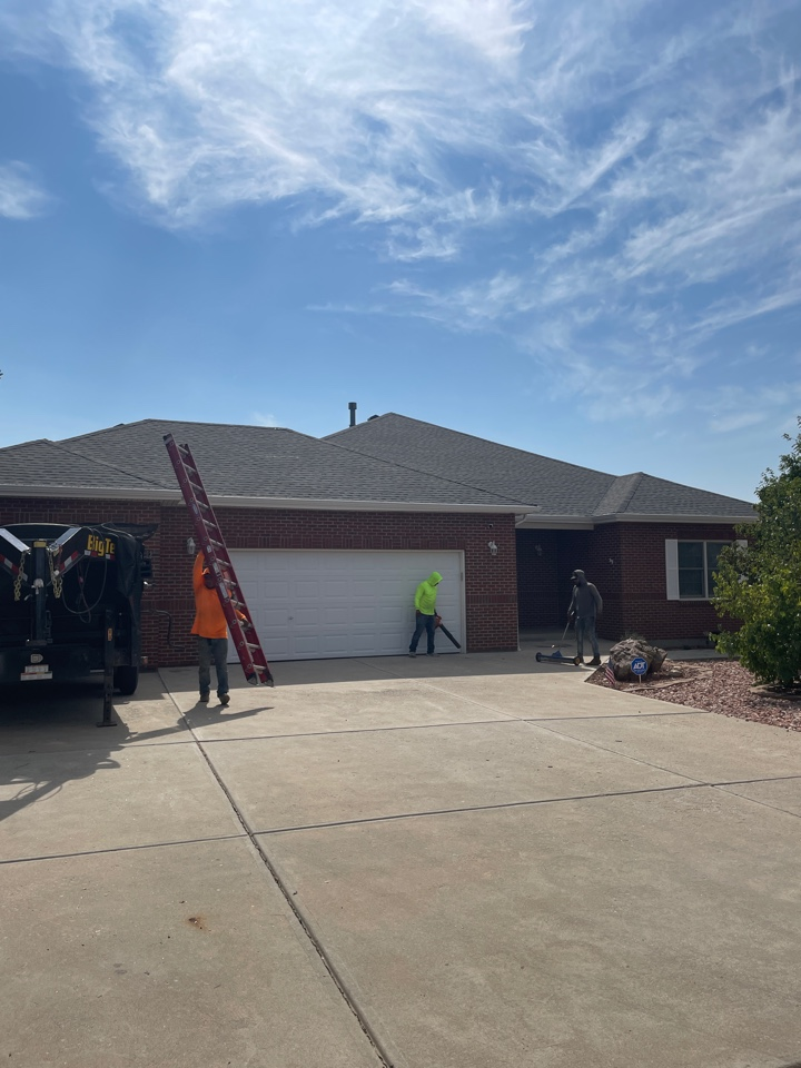 Bennett, CO - Reliable Roofing and Restoration a clean and safe job site is our main priority. We have just finished installing a GAF Armorshield 2 shingle in the color slate. If you need a free evaluation of your property and roof after this summer's hail storms, give us a call today for your free evaluation.