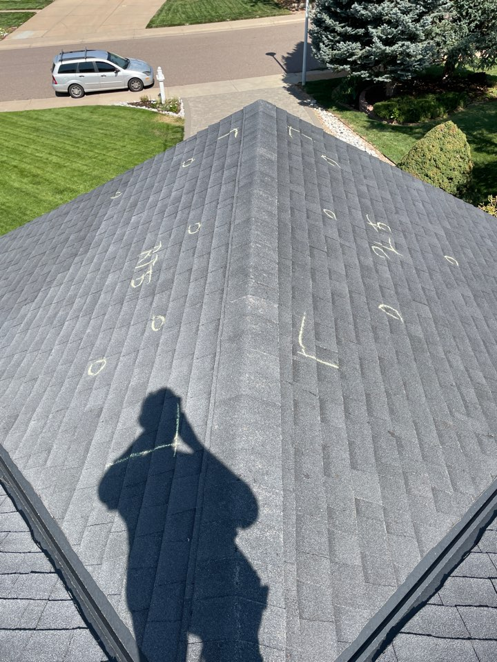 Centennial, CO - Today team Reliable Roofing and Restoration helped a customer navigate an insurance adjustment to get their roof approved for replacement due to hail damage. If you need a free evaluation of your roof and property give us a call today.