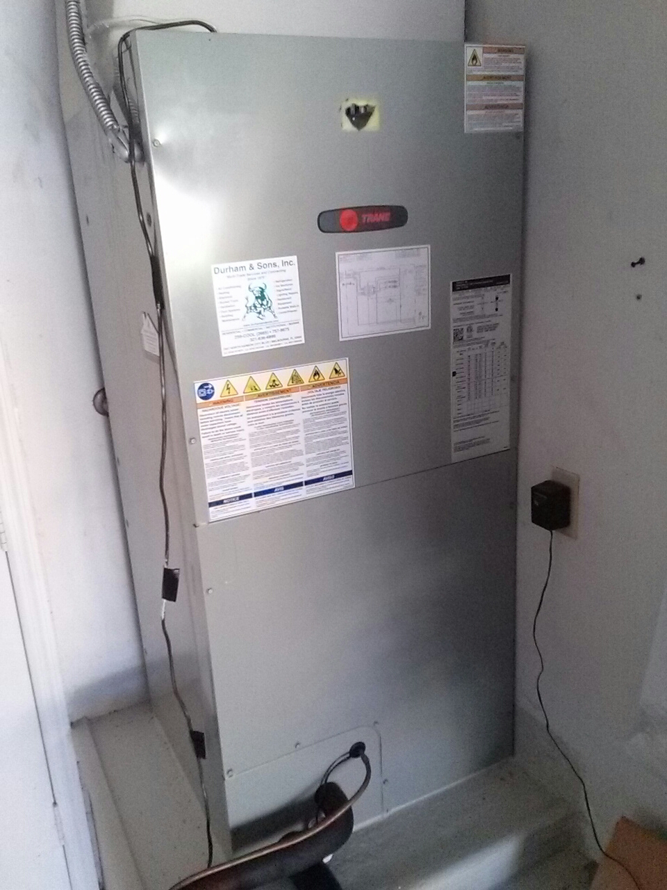 Cocoa, FL - Heating service call and repair on Trane air handler with electric heat strip.