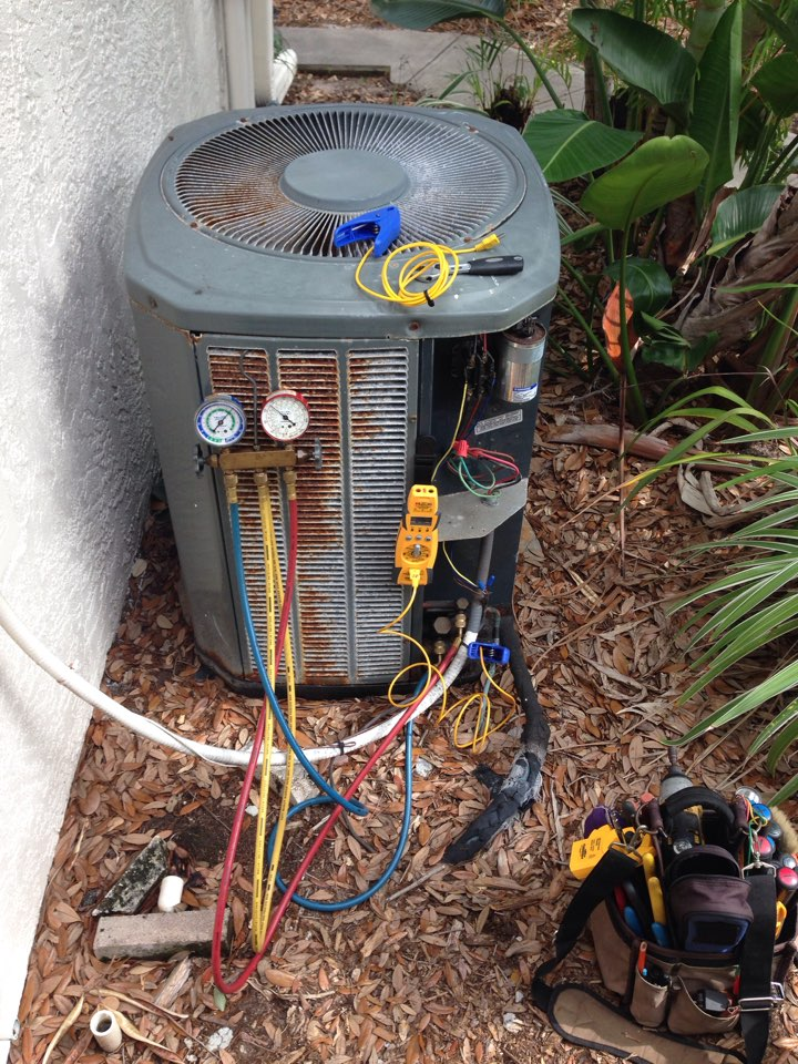 Satellite Beach, FL - Perform preventative maintenance annual tune-up on 3-ton Trane gas furnace air conditioning system.