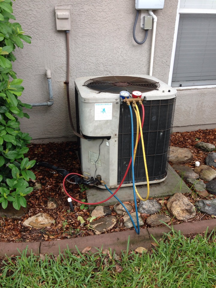 Rockledge, FL - Perform 21-point checkup on 4-ton Goodman gas furnace air conditioning system.