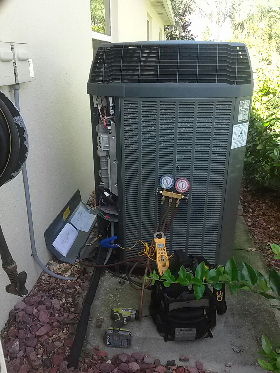 Rockledge, FL - Residential air conditioning system tune up maintenance check Trane XV20i
