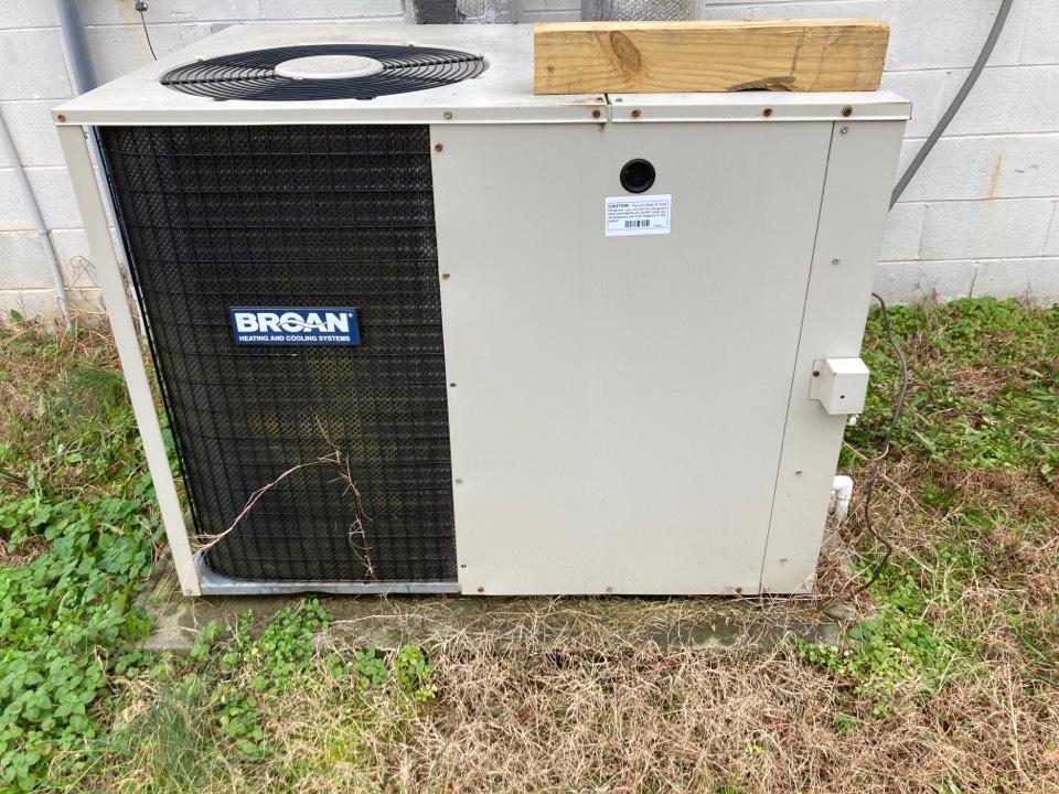 Gray Court, SC - Repair Broan heat pump package unit at Munyun Machine Works in Gray Court, South Carolina