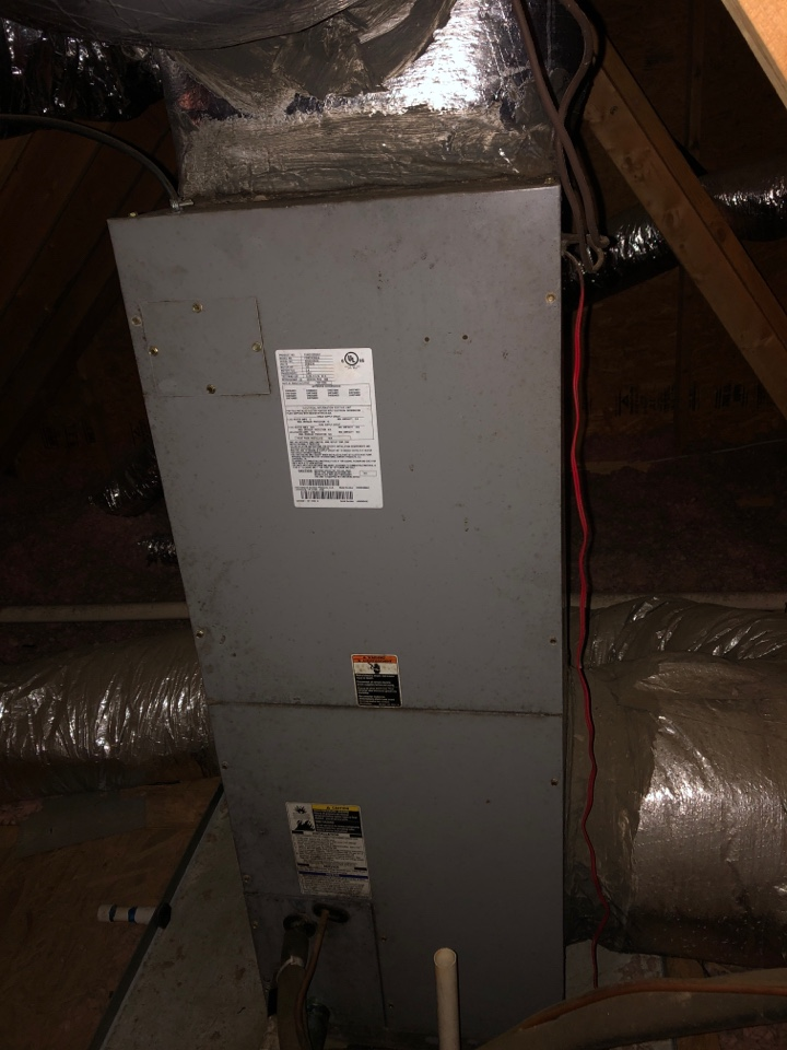 Greenville, SC - Checking upstairs heat pump