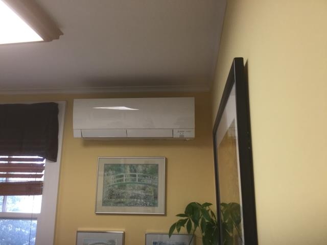 Bridgeport, CT - Installed New Mitsubishi Ductless Heat Pump in business office