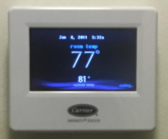 Stamford, CT - As a Carrier authorized dealer and 3 year Presidents Award winner, we work on Infinity thermostats all the time.