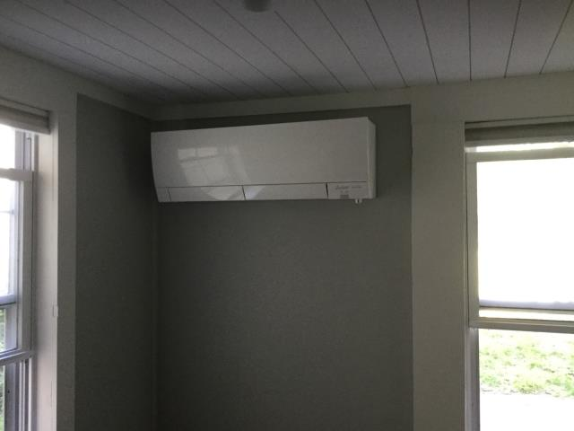 Monroe, CT - Installed single head Mitsubishi Ductless Heat Pump
