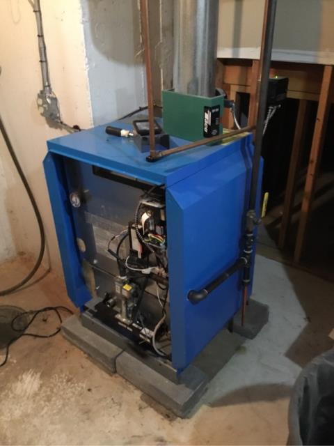 Woodbridge, CT - Seasonal maintenance on Buderus boiler.