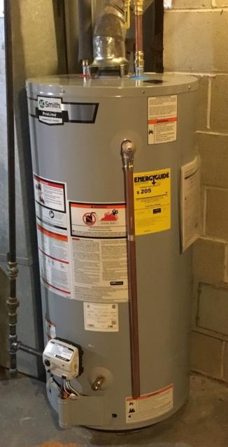 Milford, CT - Replaced customer's leaking water heater and installed a New 40 Gallon AO SMITH Water Heater.