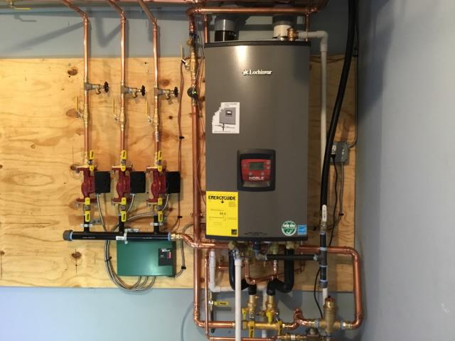 Stratford, CT - Replaced a boiler with a wall hung Lochinvar Combi Boiler NKC110