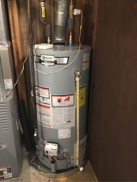 Branford, CT - Installed a new AO Smith 40 Gallon GAS GCRL-40 Water Heater.