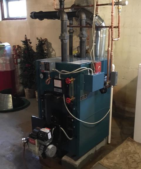 Bridgeport, CT - Installed a Burnham Oil Boiler with Coil 288 BTU Model MST288ST