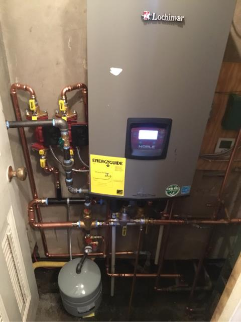 Westport, CT - Installed a Lochinvar Wall Hung Combi Gas 2 Zone Boiler
