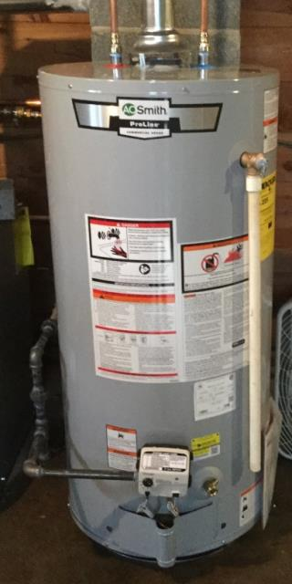 Stratford, CT - Replaced a  water heater with an AO Smith 40 Gallon Natural Gas Water Heater GCRL-40
