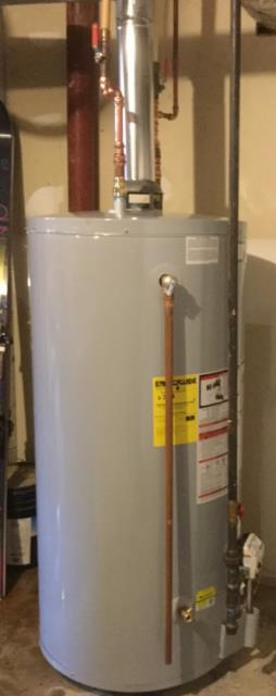 Easton, CT - Replaced a water heater with an AO Smith 75 Gallon Gas FCG-75 Water Heater.