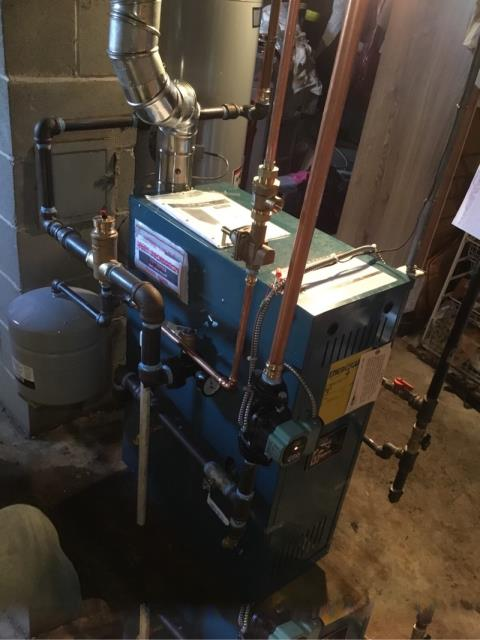 Bridgeport, CT - Completed a gas heating maintenance on a Burnham X-203 boiler